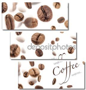 полет кофейными зернами