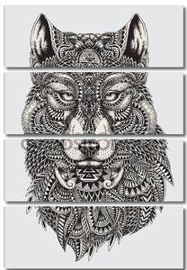 иллюстрации очень подробные абстрактные волк