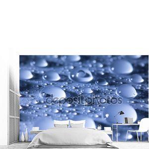 водные капельки синий абстрактный фон--супер макро