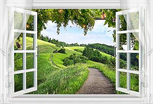 Открытые окна с видом на равнины