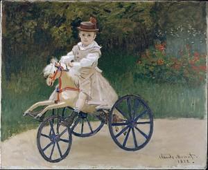 Моне Клод. Жан Моне на механической лошади, 1872