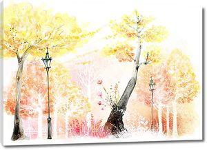 Осень с фонарями