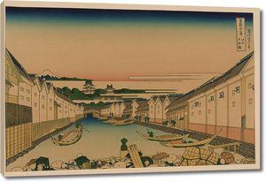 Кацусика Хокусай. Мост Нихонбаси в Эдо