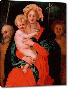 Понтормо Якопо. Мадонна с Младенцем, Святыми Иосифом и Иоанном Крестителем
