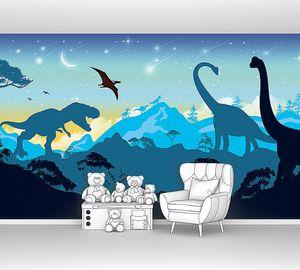 Силуэты динозавров