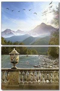 Горный пейзаж, Альпы