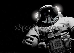 Астронавт на черном фоне