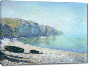 Моне Клод. Лодки на пляже в Пурвиль, отлив, 1882