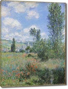 Моне Клод. Переулок в Маковых полях, Иль Сен-Мартен, 1880