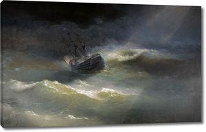 Айвазовский. Корабль Императрица Мария во время шторма
