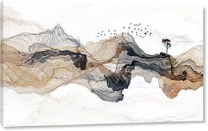 Цветные волны в форме сопок