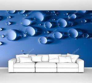 Абстрактный водных капель фон с красивый свет