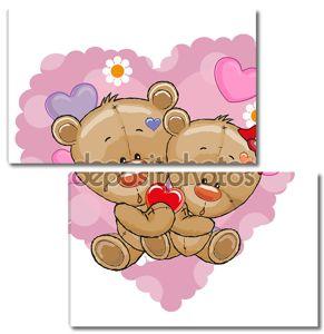 Две милые медведи