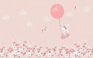 Зайка летит на шарике