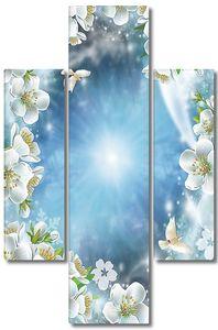 Небо в рамке из цветов