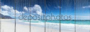 Панорама пляжа ландшафта