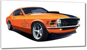Оранжевый спортивный автомобиль