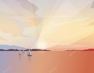 Абстрактные океан зрения пейзаж