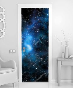 Синее звездное небо из космоса