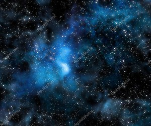 Синее звездное небо