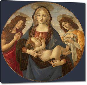 Боттичелли. Мадонна с Младенцем со святым Иоанном и ангелом
