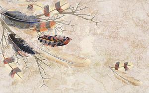 Листопад из перьев