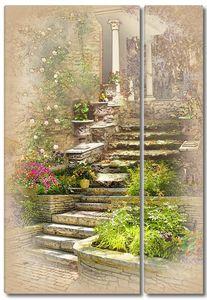 Лестница ведущая к дому