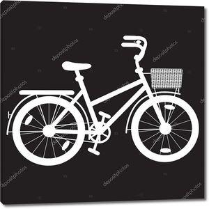 трафарет велосипед для девочки