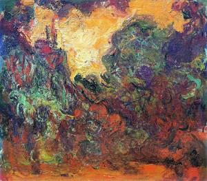 Моне Клод. Дом, вид из розового сада, 1922-24 01