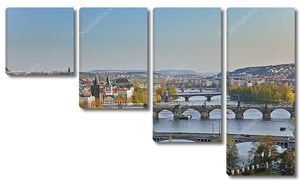 Вид на Пражские мосты