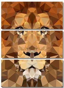 Голова льва геометрического многоугольника