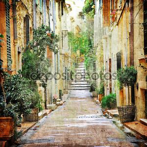 очаровательные улицы средиземноморский, Художественная фотография