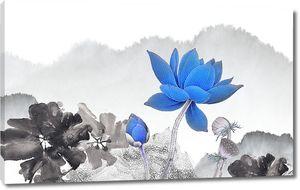 Синий и черные лотосы