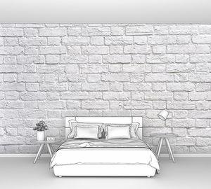 Вид на белую кирпичную стену