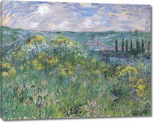 Моне Клод. Пейзаж возле Ветей, 1881