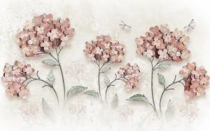 Шапки цветов со стрекозами