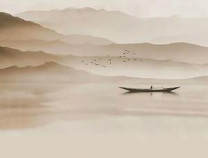 Плоскодонка на озере