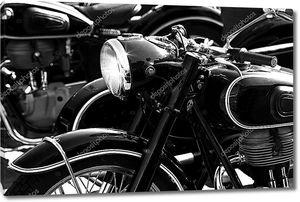 Старый ретро мотоцикл