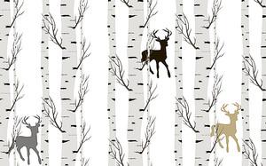 Березы с оленями