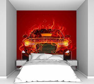 Абстрактный дизайн современной концепции спортивного автомобиля, автомобиля, транспортного средства