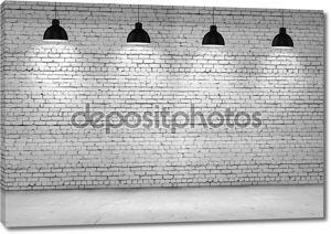 чистая кирпичная стена