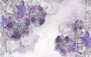 Цветы и бабочки с жемчугом