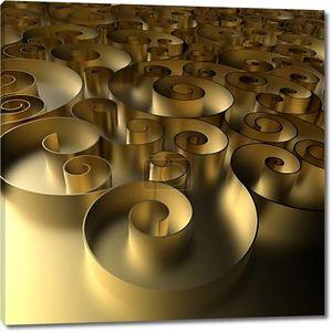 3D абстрактный фон Золотой фигурные
