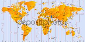 Часовой пояс карта