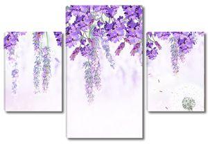 Фиолетовый цветы