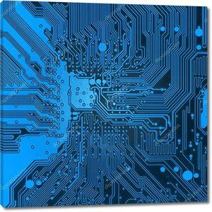 Синий электронные фоновой текстуры