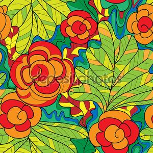 бесшовный цветочный фон