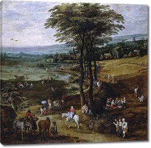 Ян Брейгель (Старший). Вид фламандской глубинки (совместно с Йосом де Момпером)