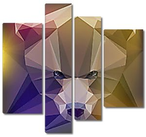 Голова медведя геометрическими фигурами