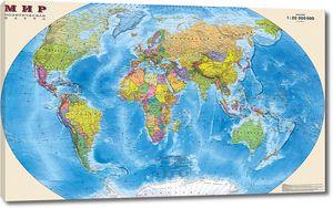 Политическая карта мира на русском языке